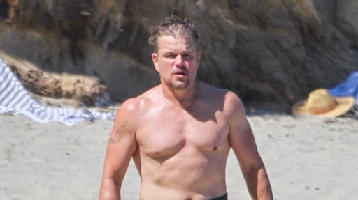 Le vacanze in surf di Matt Damon