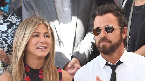 Jennifer Aniston e gli auguri di Justin Theroux