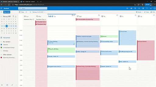 Ecco come cambierà la grafica del calendario di Microsoft Outlook