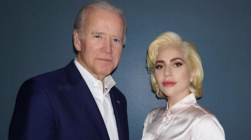 Lady Gaga e Joe Biden