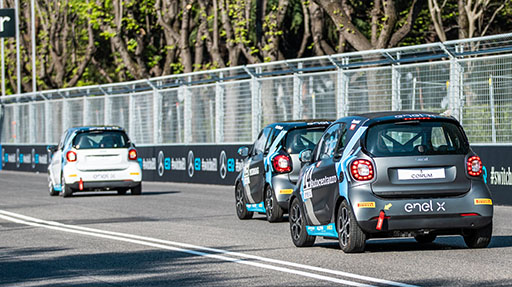 Smart Eq Fortwo E-Cup in scena a Vallelunga