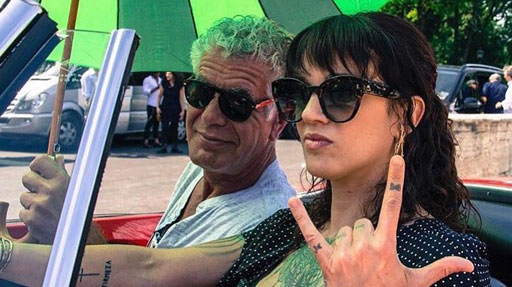 L'amore tra Asia Argento e Anthony Bourdain
