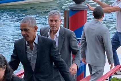 Clooney e Obama: l'incontro in Italia